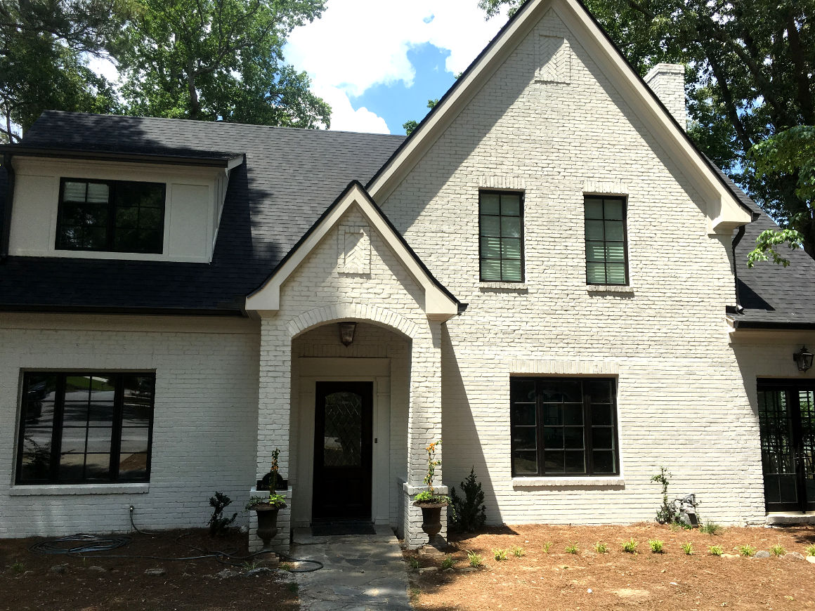 Exterior front of house addition