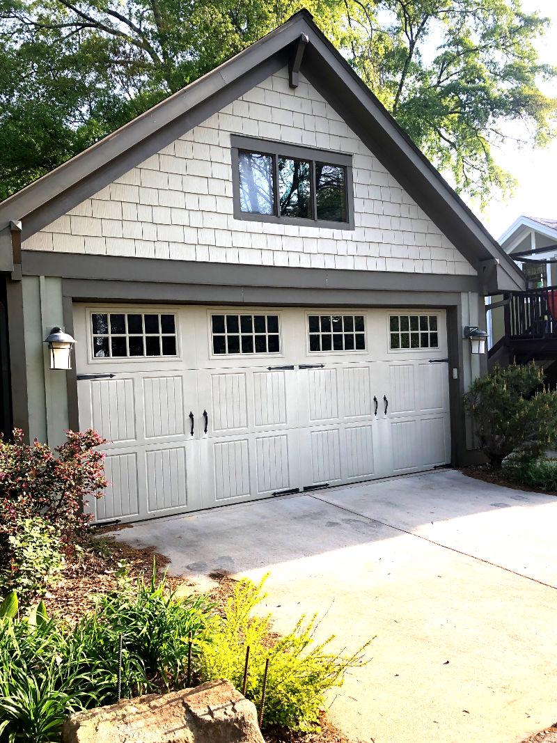 Garage with front windows