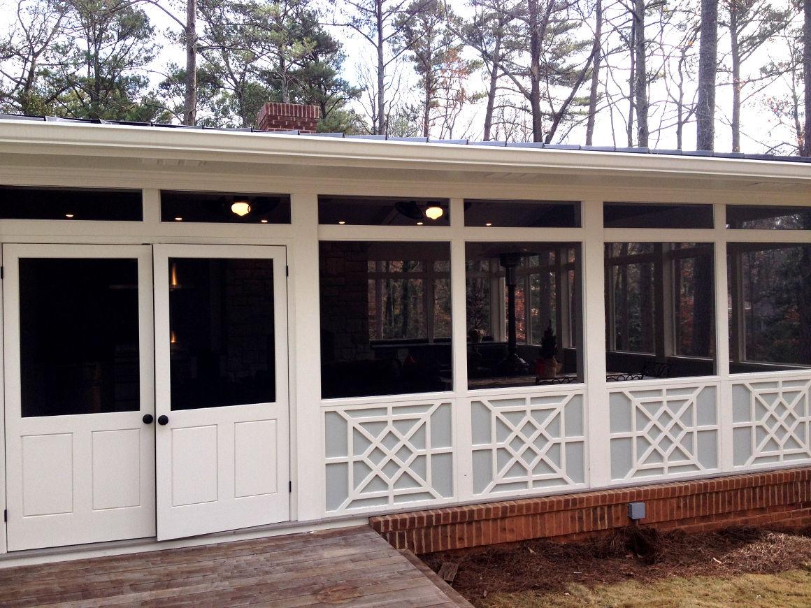 Exterior enclosed patio addition