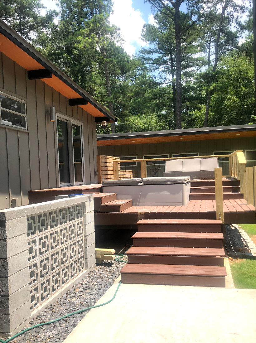 Exteriorsteps with decking
